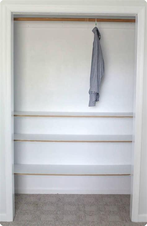 Building A Closet Shelf by How To Build Cheap And Easy Diy Closet Shelves Lovely Etc