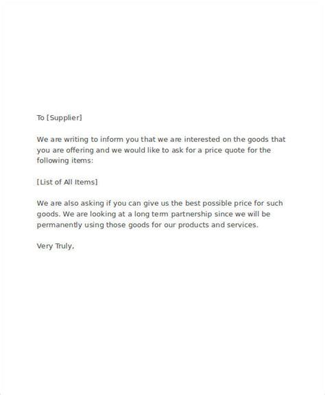 request letter  quote quotation request letter