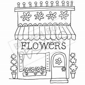 Boutique Buildings: The Flower Shop - Hand drawn clipart ...