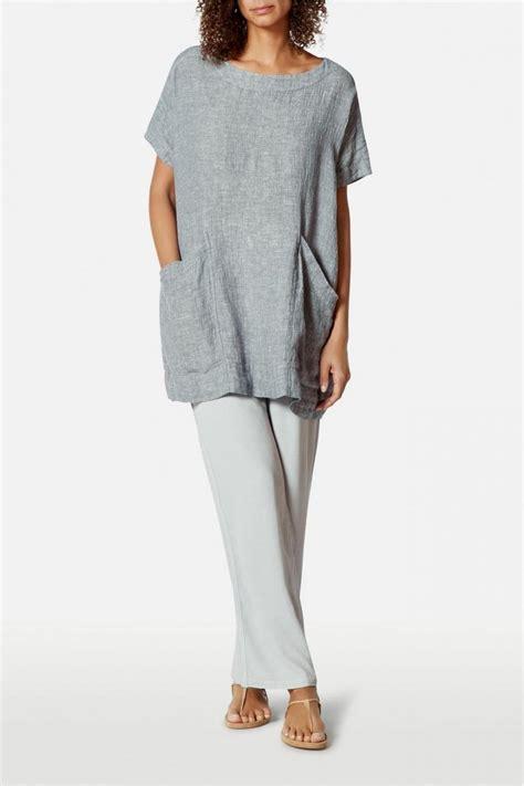 Fursia Tunic Pocket clothing crinkle linen pocket tunic