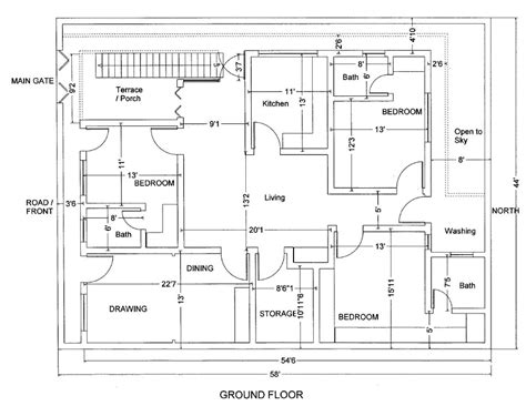 Home Design Engineer by Marla House Plan Civil Engineers Building Plans