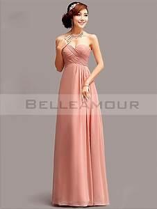 Robe Rose Pale Demoiselle D Honneur : robe de demoiselle d 39 honneur vieux rose mousseline longue col en coeur ~ Preciouscoupons.com Idées de Décoration