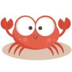 Cute Baby Cartoon Crab