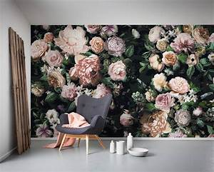 non woven photomural victoria black 6035a vd4 from komar With markise balkon mit rosen tapete vintage