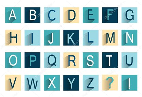 set of alphabet letters and icons for alphabet design alphabet icon set flat icon design stock vector 39852