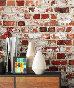 Ziegel Deko Wand : steintapete rustikal steine mauer rot wei tapeten wand ziegel design optik ~ Sanjose-hotels-ca.com Haus und Dekorationen