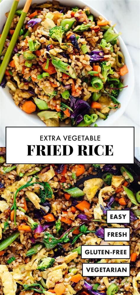 extra vegetable fried rice cookie  kate