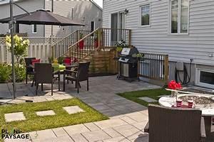Cour De Maison : cour arri re de banlieue avec terrasses et patios ~ Melissatoandfro.com Idées de Décoration
