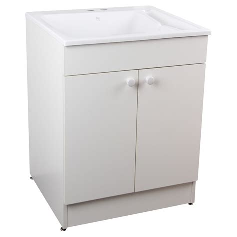 white laundry sink cabinet laundry sink with cabinet and faucet 24 quot white rona