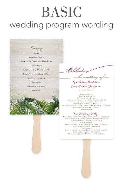 wedding program sle wording ideas how to word your wedding programs invitations by