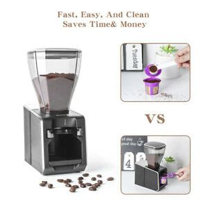 *place the top container over the stemmed disc but do not press it completely to fit the bottom container as this blocks the brewing process. Useful Coffee Powder Dispenser Container Filling Machine For K Cup Filler | eBay