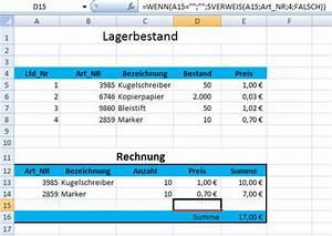 Rechnung In Excel : l sung rechnung in excel ~ Themetempest.com Abrechnung