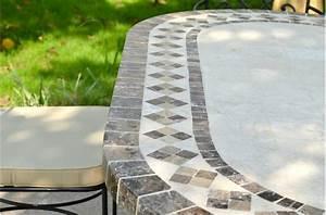 Table Mosaique Jardin : table rabattable cuisine paris table de jardin mosaique rectangulaire ~ Teatrodelosmanantiales.com Idées de Décoration