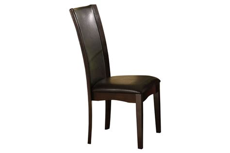 jacob brown leather side chair