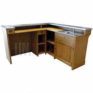 Meuble Bar Angle : comptoir de bar d 39 angle avec vier 190 x 140 cm ~ Melissatoandfro.com Idées de Décoration