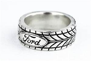custom tire tread ring car enthuisiast ford sports car With mens car wedding rings
