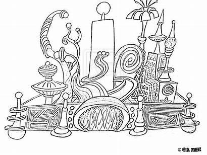 Coloring Disneyland Disney Pages Walt Castle Drawing