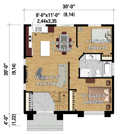 style house plan 1 beds 1 00 baths 538 sq ft plan contemporary style house plan 2 beds 1 00 baths 900 sq Modern