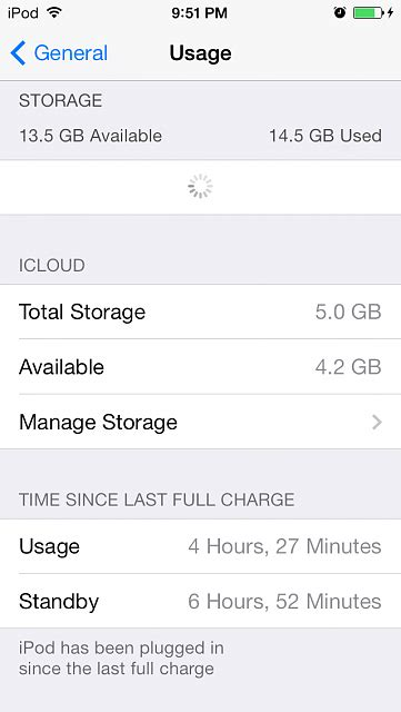 how to show battery percentage on iphone 5 where is the battery percentage for the 5g ipod touch