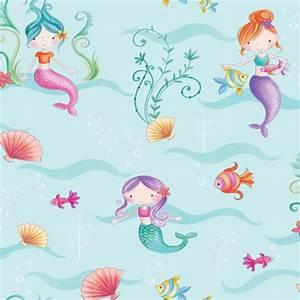 Fine Decor Mermaid Wallpaper at Homebase.co.uk