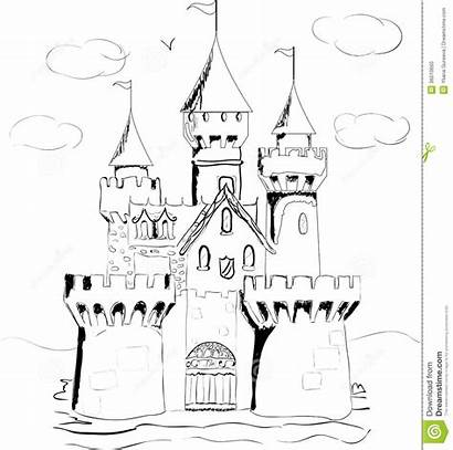 Palace Fairy Tale Coloring Castle Dreamstime Designlooter