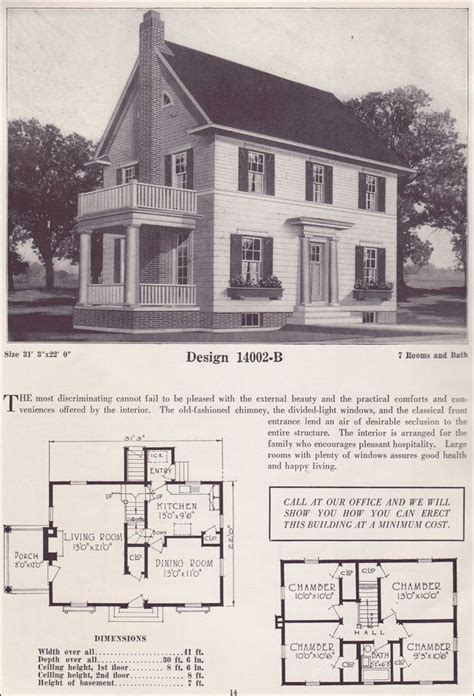 Colonial Revival House Plans by 1925 Colonial Revival House Plans Classic Home Two