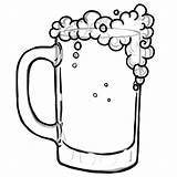 Beer Coloring Drawing Glass Pages Bottle Mug Print Soda Getcolorings Printable Clip Clipart Bee Clipartmag sketch template