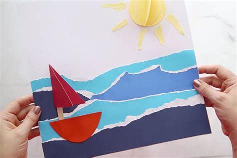 sailboat craft   ideas  kids