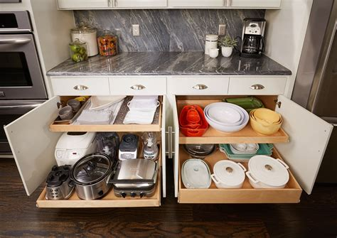 convert kitchen cabinet to pull out transform your cabinets into working cabinets with