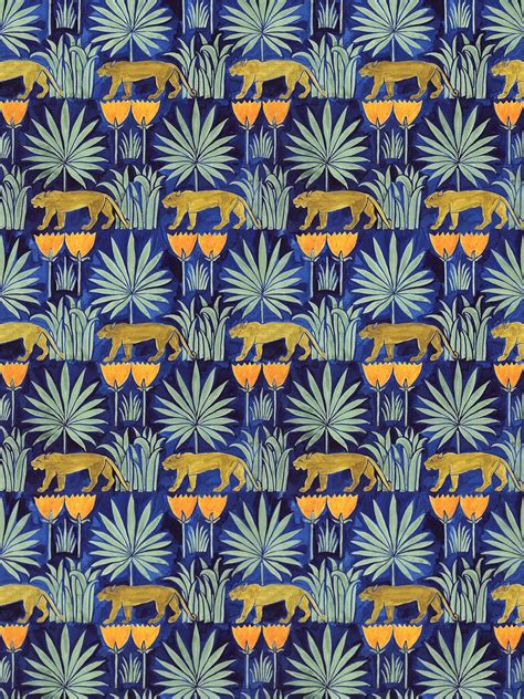 wallpapers archives sugar crafts c f a voysey lioness and palms wallpaper from the v a