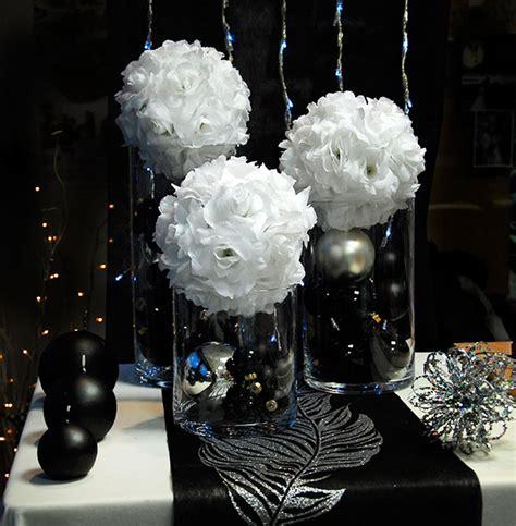 deco de salle mariage noir et blanc table mariage noir et blanc