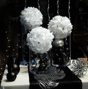 table mariage noir et blanc With deco en noir et blanc