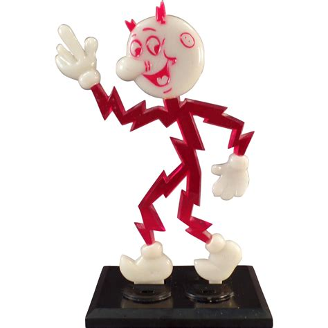 vintage reddy kilowatt l vintage reddy kilowatt advertising display glows in the