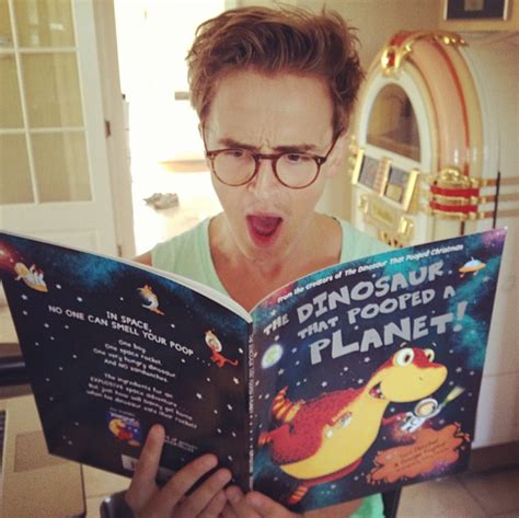mcfly s tom reads through his new the dinosaur that pooped