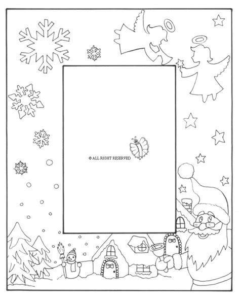 immagini cornici per bambini disegni di natale da colorare per bambini con cornici