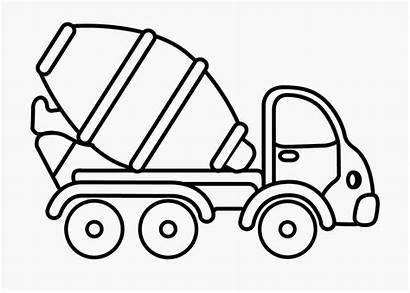 Coloring Pages Truck Tractor Preschool Cement Mixer