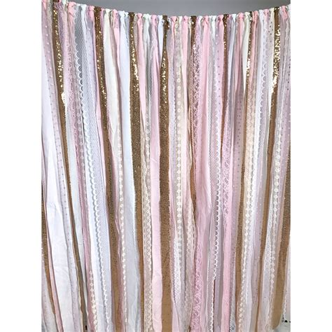 Garland Backdrop by Pink Gold Fabric Garland Backdrop Backdrop Express