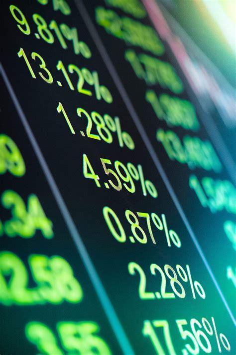 Stock Market Trading Digital Blackboard with Green Numbers ...