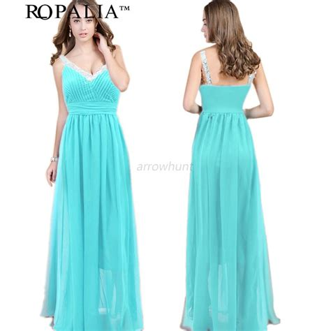 Womens Prom Ball Gown Formal Cocktail Evening Party Full Long Dress S-XL ROPALIA   eBay