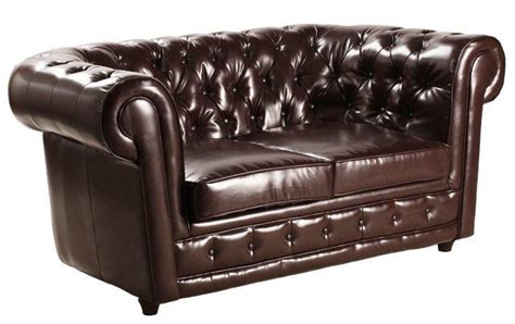 canap chesterfield marron canape chesterfield deluxe 2 places cuir marron capitonne