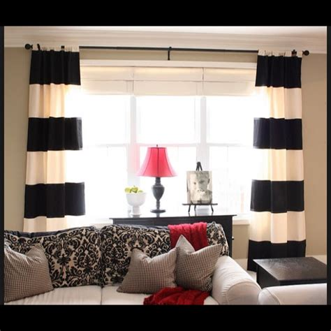 black and white curtains kate spade inspired on the hunt