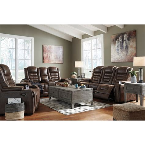 signature design  ashley game zone faux leather power