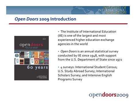 open doors iie economic impact session may 2010