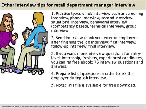 Retail Sales Questions From Manager by Retail Department Manager Questions