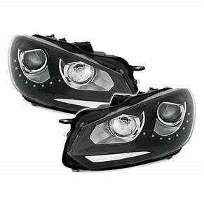 Phare Led Golf 7 : lot de 2 feux phare avant vw golf 6 a led look phare xenon ebay ~ Farleysfitness.com Idées de Décoration