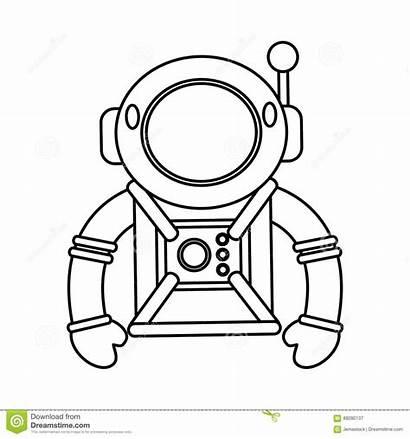 Astronaut Suit Space Helmet Outline Clipart Adventure