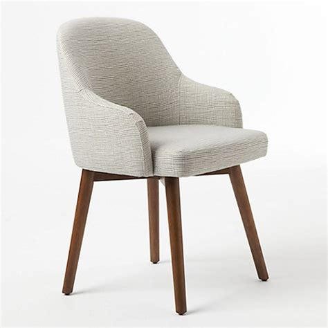 buy west elm saddle dining chair crosshatch steel