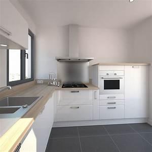 Ikea Cuisine Blanche : cuisine blanche plan de travail bois ikea lille maison ~ Melissatoandfro.com Idées de Décoration