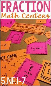 Fraction Math Centers For Fifth Grade