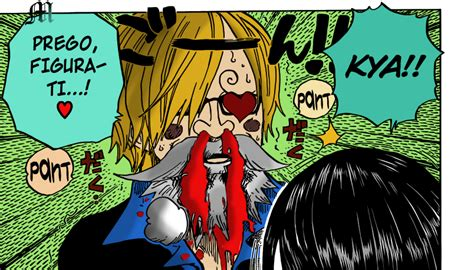 Sanji Nosebleed By M By Mariotheartistm On Deviantart